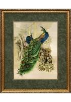 Вышитая картина «Павлины»