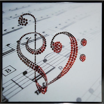 Картина Сваровски «Музыка любви»
