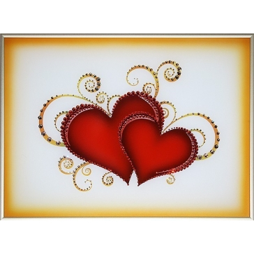 Картина Сваровски «Влюбленные сердца»