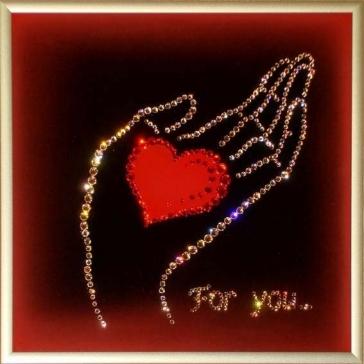 Картина Сваровски «For you...»