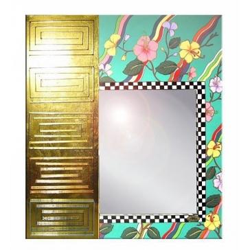 Дизайнерское зеркало «Таити» от Томаса Хоффмана, Германия.