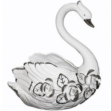 Ваза для фруктов «Лебедь», керамика, Италия