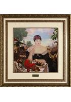 Вышитая картина «За чаем»