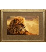 Вышитая картина «Золотой лев»