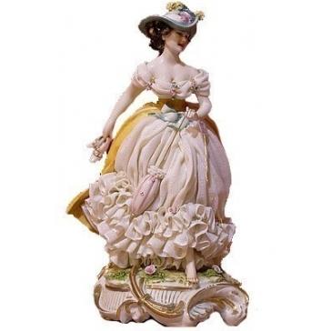 Коллекционная фарфоровая статуэтка «Босиком по парку», Италия