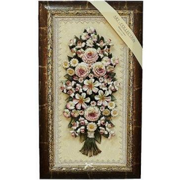 Картина с цветами из керамики «Букет»
