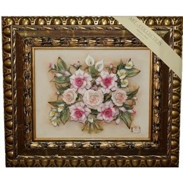 Декоративное керамическое панно «Букет цветов»