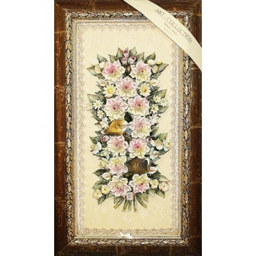 Подарочная картина из керамики «Трели в цветах»