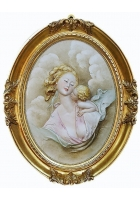 Фарфоровое панно «Материнство»