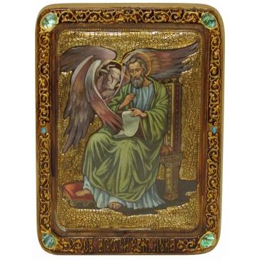 Живописная икона «Святой апостол и евангелист Лука» с сертификатом