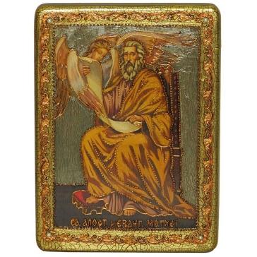 Подарочная икона «Святой апостол и евангелист Матфей» в шкатулке