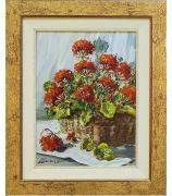 Натюрморт с цветами. Автор Marianelli. Холст. Масло.