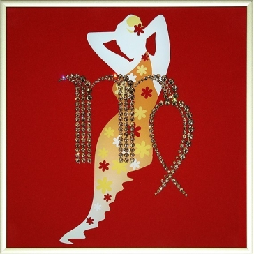 Картина Сваровски «Знак зодиака Дева»