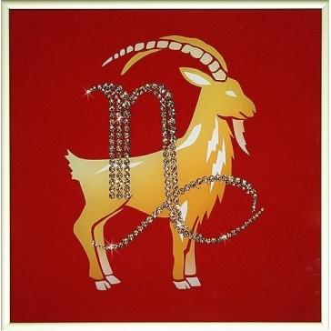 Картина со стразами Сваровски «Знак зодиака Козерог»