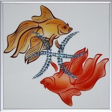Картина Сваровски «Знак зодиака Рыбы»