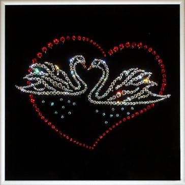 Картина Сваровски «Лебеди»