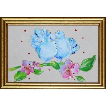 Картина Сваровски «Голубки»