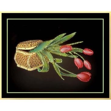 Картина «Шкатулка с тюльпанами»