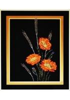 Картина «Маки с колосьями»