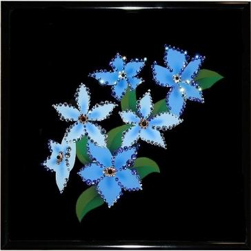 Картина Сваровски «Голубые незабудки»