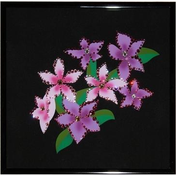 Картина Сваровски «Розовые незабудки»