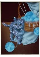 Картина «Котенок, играющий с клубком»