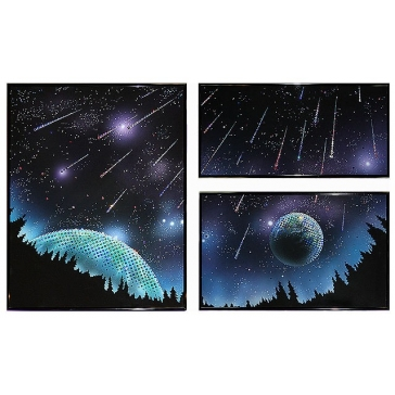 Модульная картина Сваровски «Звездопад»