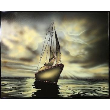 Картина Сваровски «Морской закат»