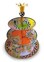Трехъярусная ваза для фруктов