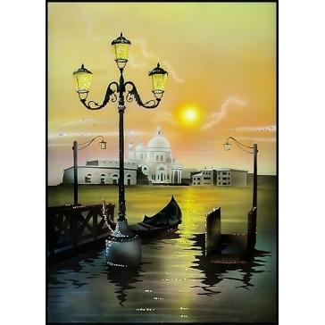 Картина Сваровски «Рассвет на Неве»