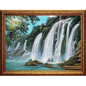Картина Сваровски «Водопад»
