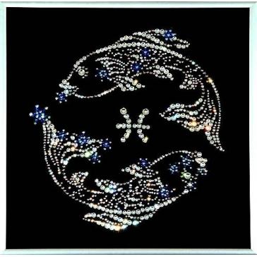 Картина с кристаллами Сваровски «Звездные рыбы»