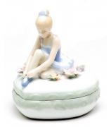 Фарфоровая шкатулка «Маленькая балерина»