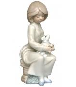 Фарфоровая статуэтка «Неразлучные друзья»