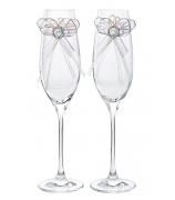 Набор из 2-х бокалов для шампанского «Свадебный»