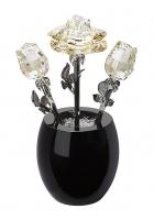 Хрустальный сувенир «Букет чайных роз»