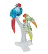 Хрустальная фигурка «Семья попугаев»