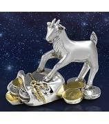Статуэтка «Козочка с денежным мешочком»