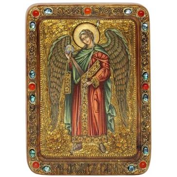 Живописная икона «Архангел Гавриил» на кипарисовой доске.