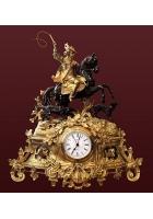 Бронзовые часы «Охота»