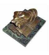 Бронзовая статуэтка «Денег нет»