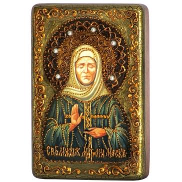 Подарочная икона «Святая Матрона Московская» в шкатулке.