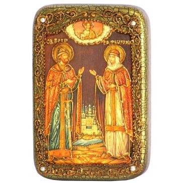 Настольная икона «Петр и Феврония Муромские»