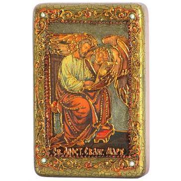 Настольная икона «Святой апостол и евангелист Марк» на морёном дубе