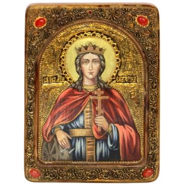 Подарочная живописная икона «Святая великомученица Екатерина»