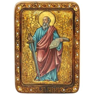 Живописная икона Первоверховного апостола Павла со свидетельством.