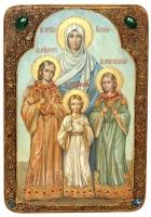 Живописная икона «Вера, Надежда, Любовь и мать их София»