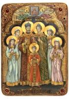 Живописная икона «Святые страстотерпцы»