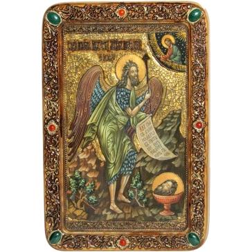 Икона «Пророк и Креститель Иоанн Предтеча», живописная на кипарисе