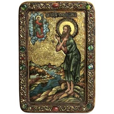 Живописная икона «Преподобный Алексий, человек Божий» с номерным свидетельством
